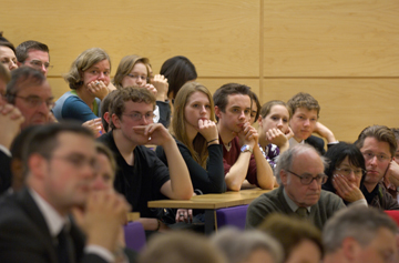 Students in a lecture at the Faculty of Law, University of Cambridge